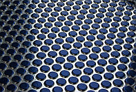 Декоративные панели 3D VERGE Buble, Синий-Хром, 3000х1000 мм Казахстан