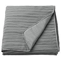 Покрывало ВЕКЕТОГ серый 260x250 см ИКЕА, IKEA