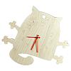 Часы деревянные «Кот»