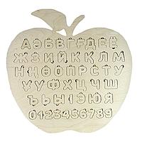 Деревянные пазлы алфавит: казахский, русский, английский