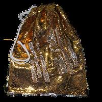 Мешок на лямках с паетками