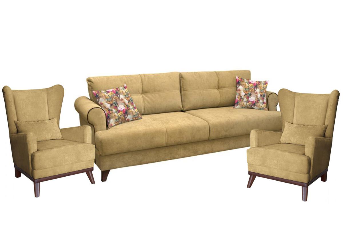 Комплект мягкой мебели Мирта, Песочный, Нижегородмебель и К(Россия)