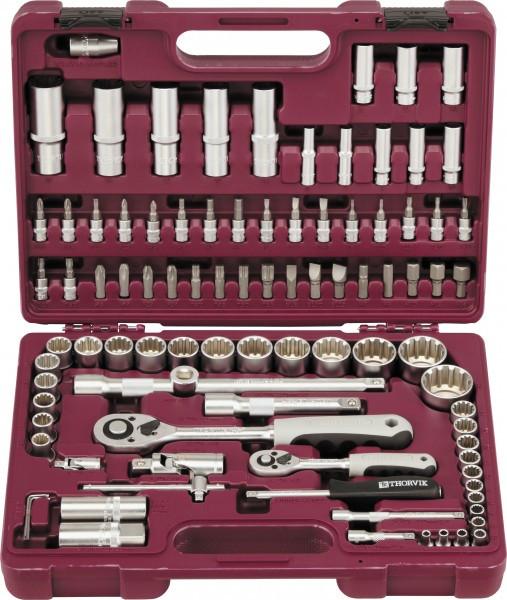 """(UTS0094MP) Набор инструмента универсальный 1/4"""", 1/2""""DR с головками торцевыми MultiProf, 94 предмета"""