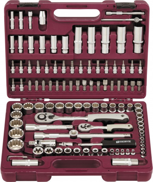 """Набор инструмента универсальный 1/4"""", 1/2""""DR с головками торцевыми MultiProf, 108 предметов UTS0108MP"""