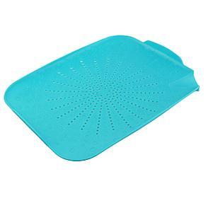 Пластиковый коврик-дуршлаг для раковины, цвет голубой, фото 2