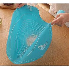 Коврик-подложка для раскатывания теста, 26х29 см, цвет голубой, фото 2