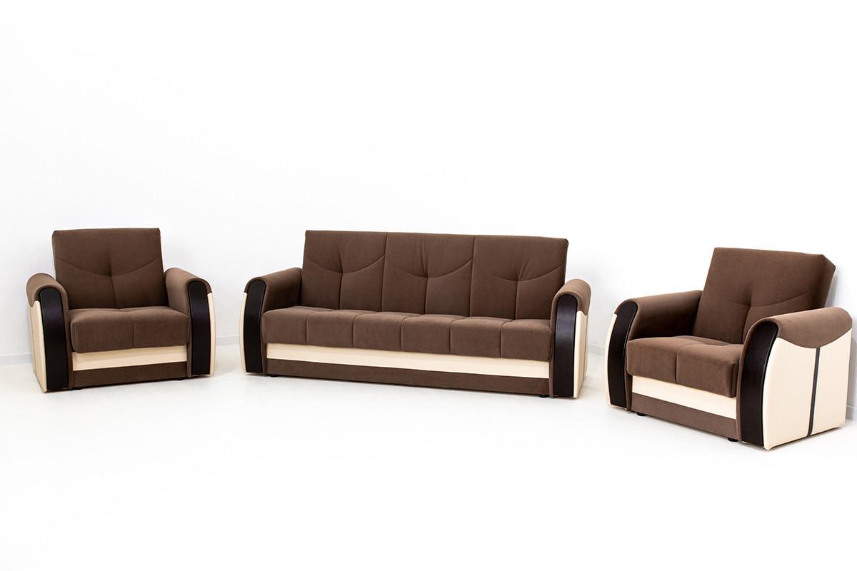 Комплект мягкой мебели Сиеста 4, Коричневый, АСМ(Россия)