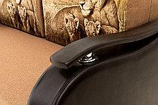 Диван прямой раскладной Аквамарин 7, КупонАфрикаЛьвы/MOBI11Диван, АСМ Классик (Россия), фото 3