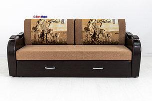 Диван прямой раскладной Аквамарин 7, ОК06/КупонАфрикаГепарды/MOBI11, АСМ (Россия), фото 2