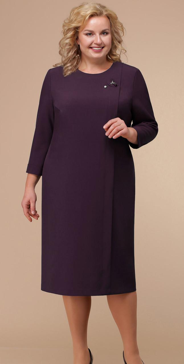 Платье Линия-Л-Б-1764/1, баклажановый, 60