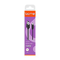 Кабель ACME CB1011 USB - micro USB cable, 1m Black