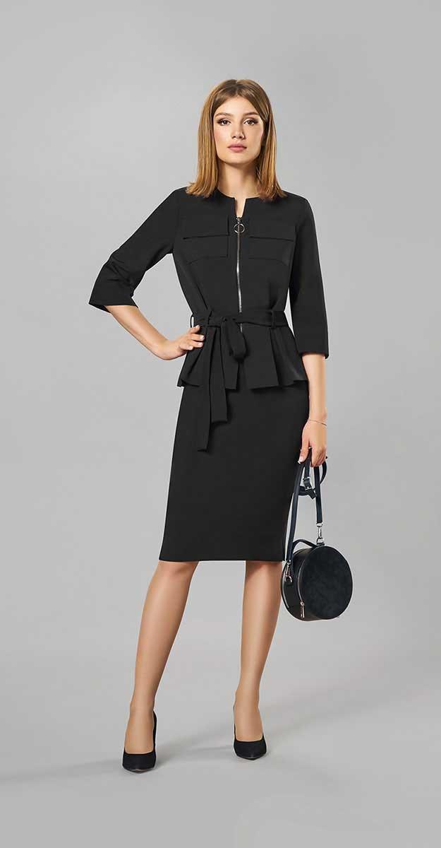 Костюм Denissa Fashion-1258-1, черный, 44
