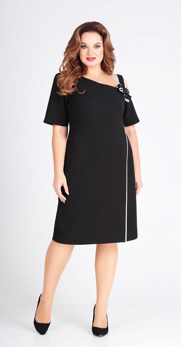 Платье Denissa Fashion-1267, черный, 50