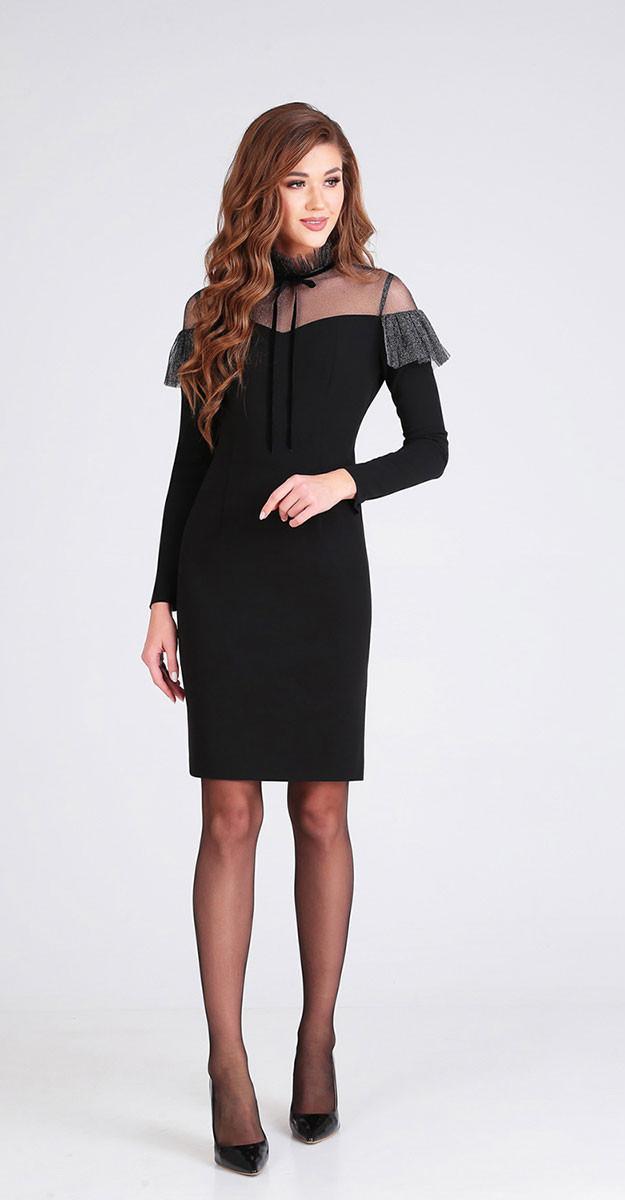 Платье Denissa Fashion-1273, черный, 44