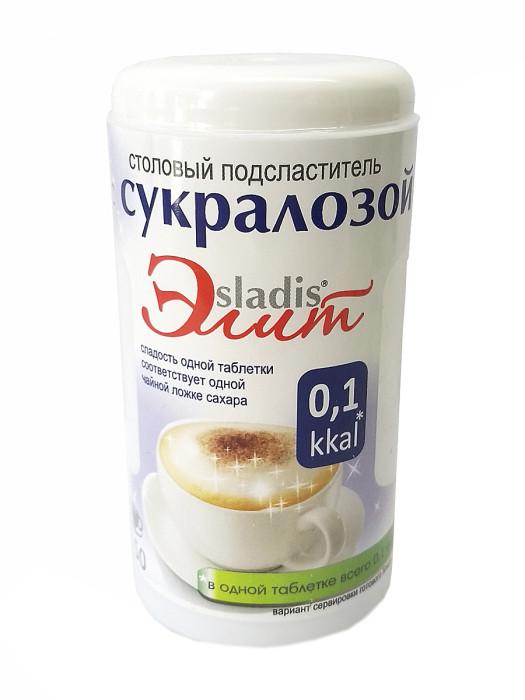 Столовый подсластитель Сладис Элит с сукралозой 150 таблеток, 9,0г (дозатор круглый)