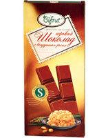 Шоколад горький с воздушным рисом на сорбите Bifrut, 100 г