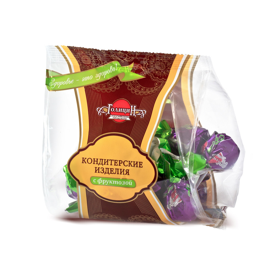 Конфеты «Пралине горькое с фруктозой» фасовка 180 г