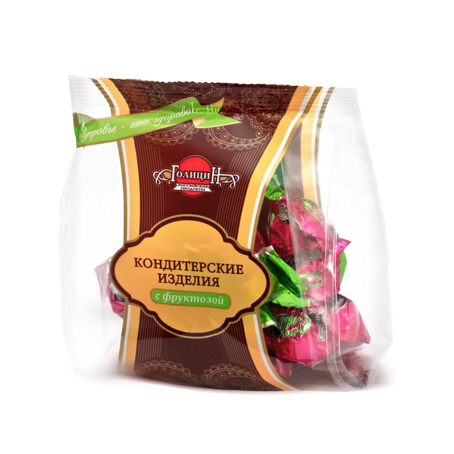 Конфеты «Пралине горькое с орехом с фруктозой» фасовка 180 г