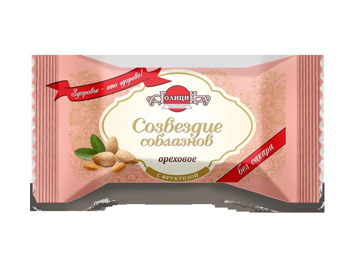 Конфеты «Созвездие соблазнов ореховое» с фруктозой 180 г