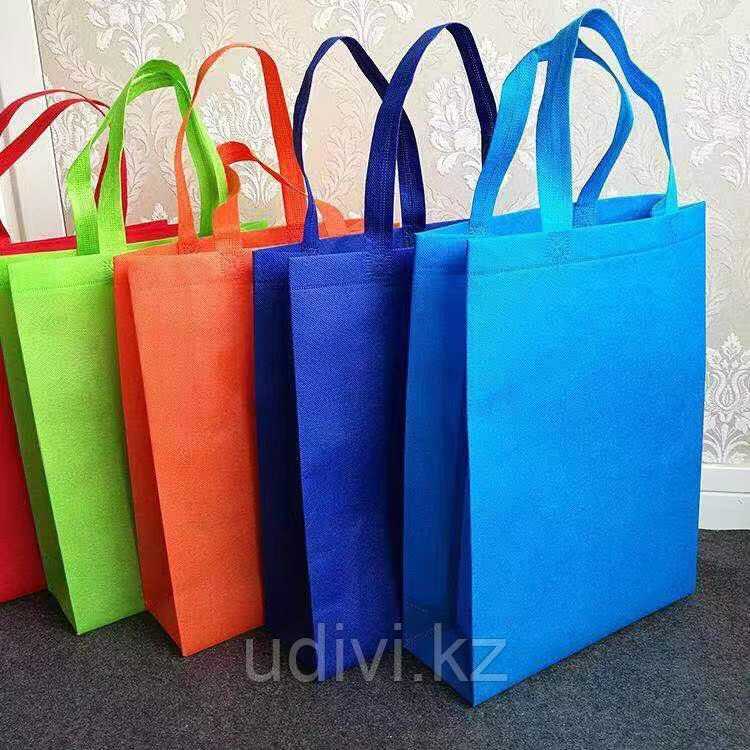 Эко-сумки из спанбонда с ручками  под логотип