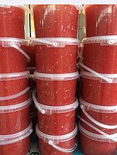 Икра горбуши аналоговая из натурального сока горбуши в оболочке из бурых морских водорослей