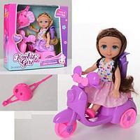 BLD 229 Кукла на мопеде с рюкзаком Girl mini motorcycle 20*20см