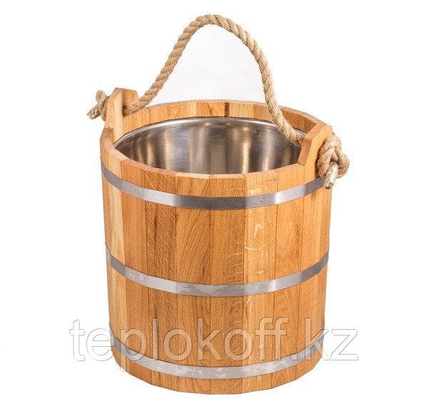 Запарник банный Woodson 20 л дуб с нержавеющей вставкой