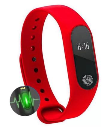 Фитнес-браслет с пульсометром Mi Band-2 (Красный), фото 2