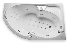 Акриловая гидромассажная ванна Диана 170х105х65 см.(Общий массаж, NANO), фото 2