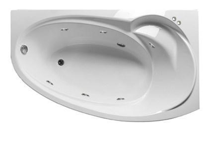 Акриловая гидромассажная ванна Джуллиана 170х100х65 см.(Общий массаж), фото 2