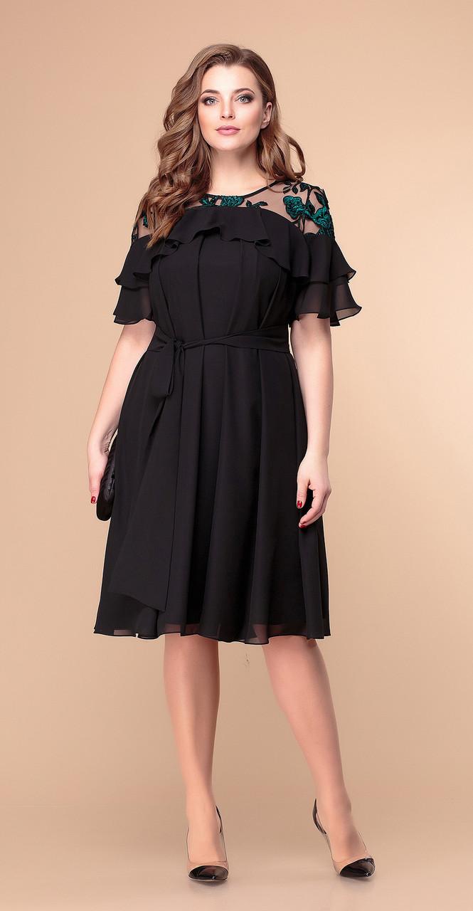 Платье Romanovich-1-1909, черный, 48