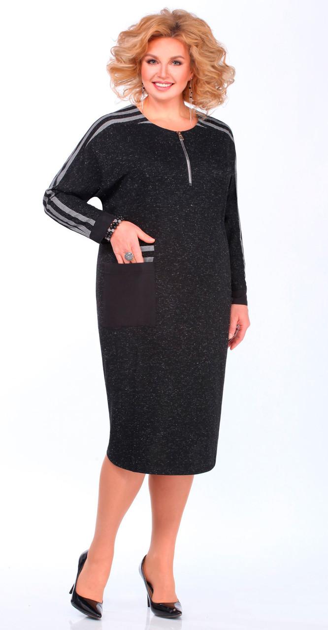 Платье Matini-31336, черно-серый, 58
