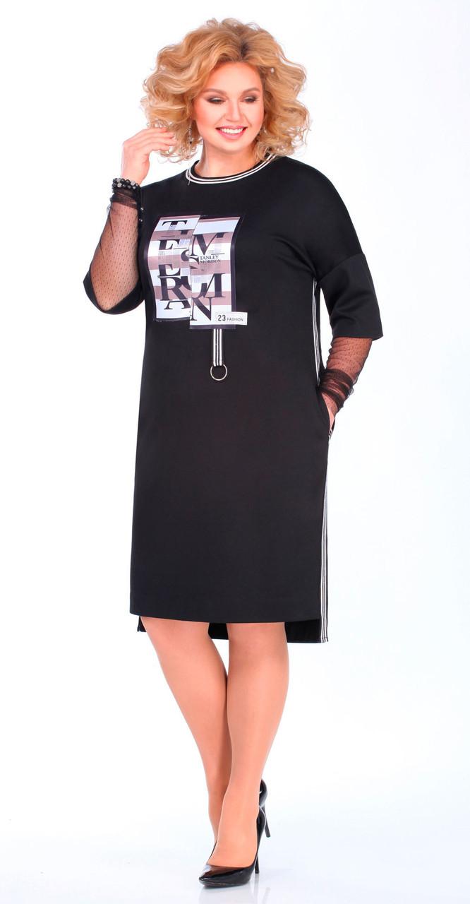 Платье Matini-31366, черно-серый, 52