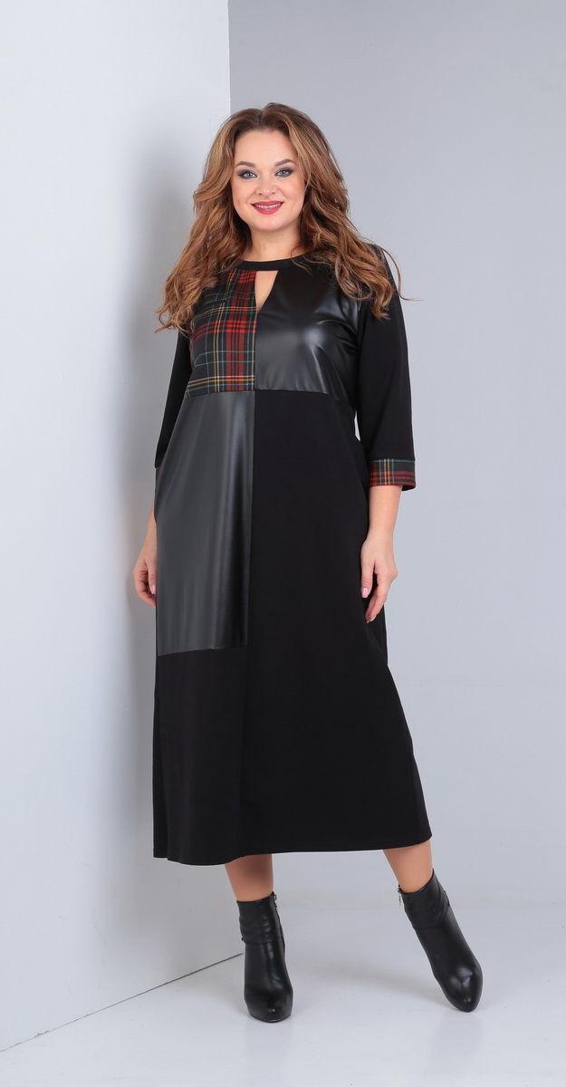 Платье Andrea Style-00227, черный, 54