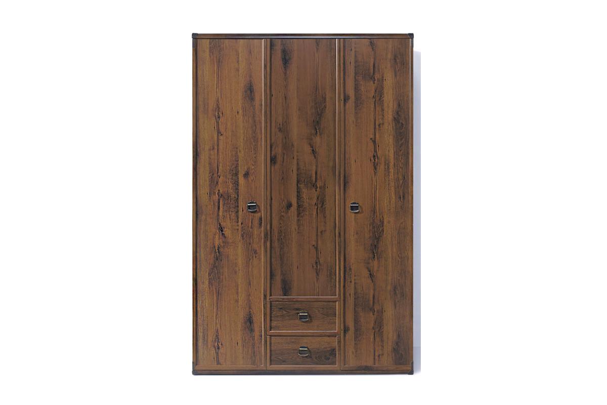 Шкаф для одежды 3Д (Indiana JSZF 3d2s), коллекции ИНДИАНА, Дуб Саттер, BRW-Украина (Украина)