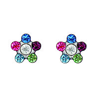 Гипоаллергенные серьги-цветочки для ношения