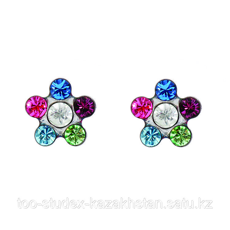 Гипоаллергенные серьги-цветочки для ношения - фото 1