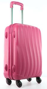 """Маленький чемодан розовый из прочного пластика """" Bubule"""""""