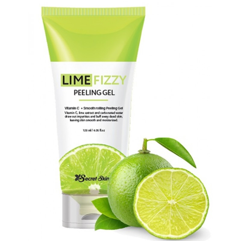 Гель - скатка с экстрактом лайма Secret Skin Lime Fizzy Peeling Gel 120 ml.