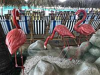 Декорации фламинго из пенопласта на заказ