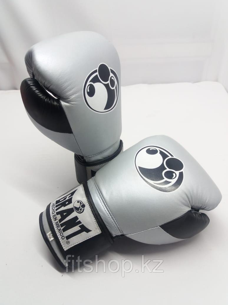 Боксерские перчатки  Grant ( натуральная кожа )  цвет серый