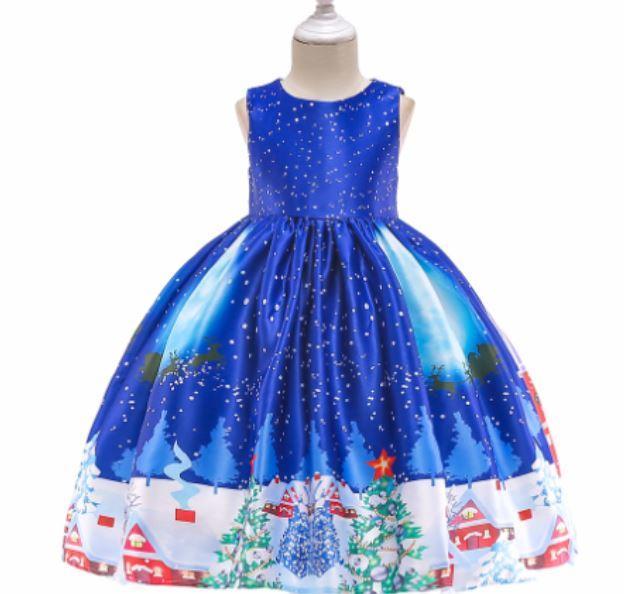 Платье нарядное, цвет голубой, на 2-3 года, на 3-4 года