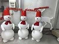 Пенопластовые снеговики на заказ