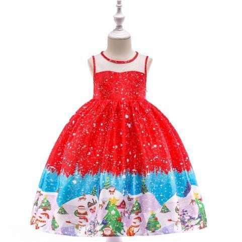 Платье нарядное, цвет красный, на 2-3 годика