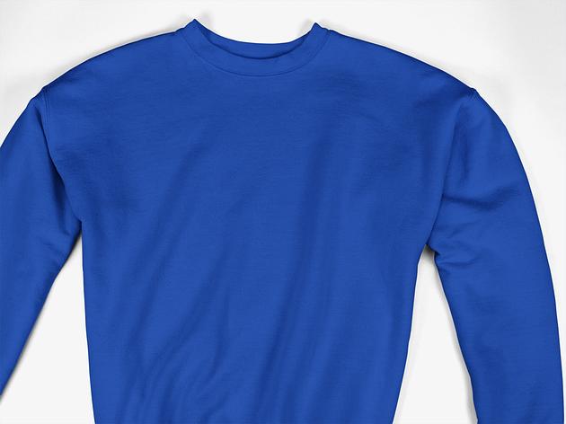 Свитшот однотонный - Синий, фото 2