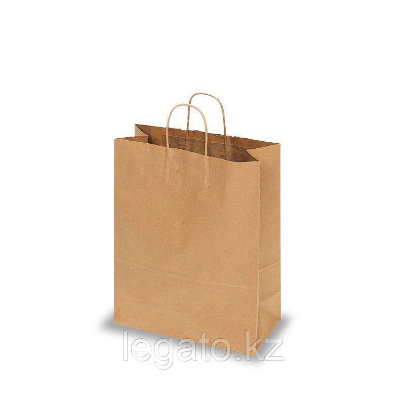 Пакет бумажный крафт с круч ручками 320*240*140 (300шт/кор)