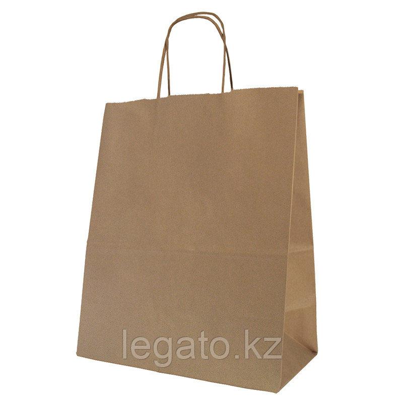 Пакет бумажный с круч. ручками, крафт (коричн.), 280*240*140 мм., AVIORA,, 300шт/кор