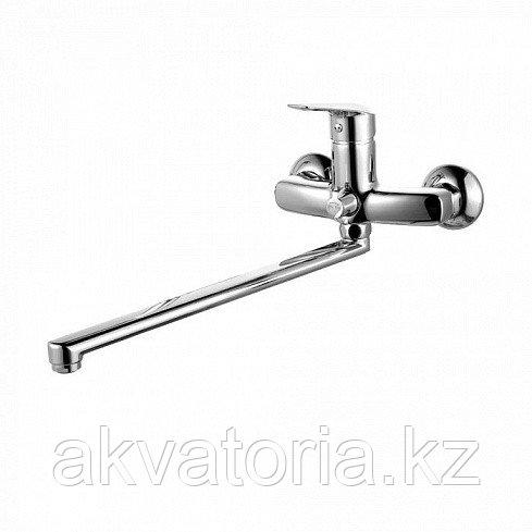 Смеситель для ванны с длинным изливом с керамическим дивертором, Torr, IDDIS, TORSBL2i10WA