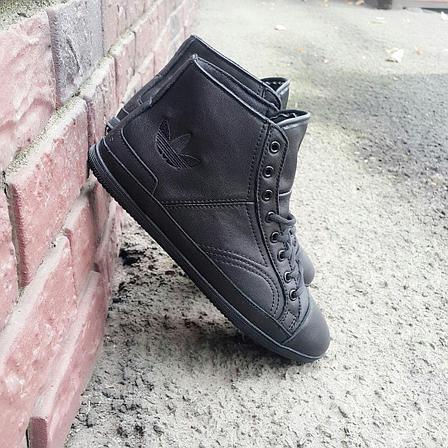 Кроссовки А черные кожа, фото 2