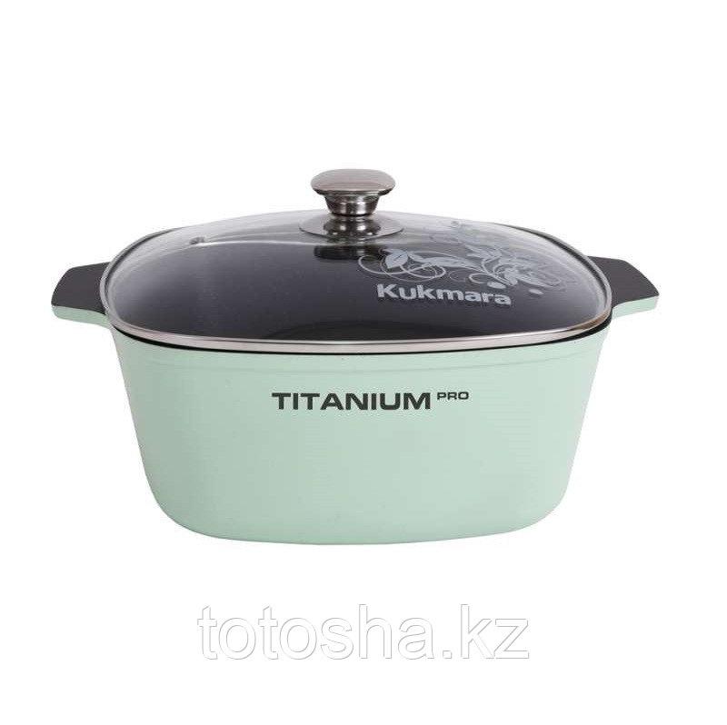 """Кастрюля 5,5 л """"Titanium pro"""" (Green) , Кукмара"""